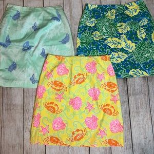 Lilly Pulitzer Lot of 3 Skirts Sz 4